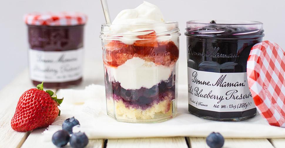 Strawberry Blueberry Trifles