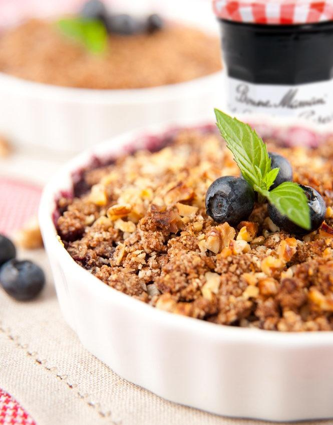 Bonne Maman and Walkers Blueberry Crumble