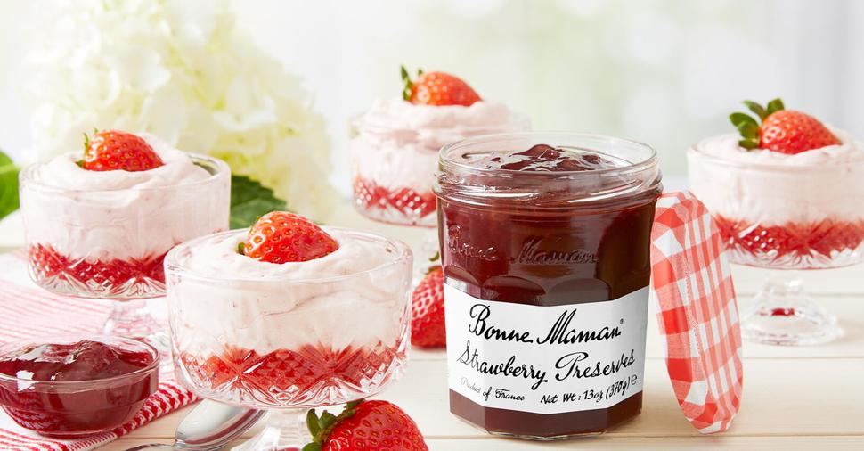 Easy Strawberry Mousse with Bonne Maman Preserves