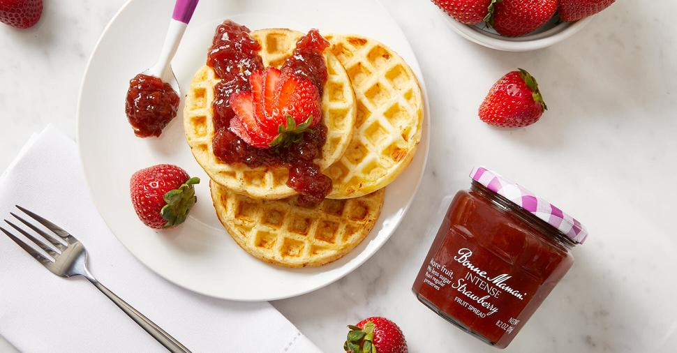 INTENSE Strawberry Waffles