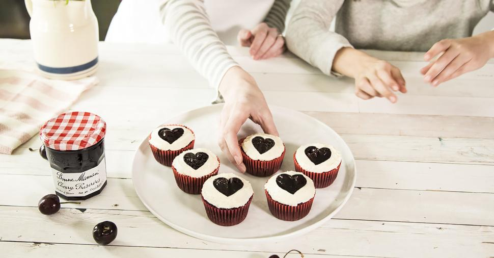Dark Chocolate Cherry Cupcakes
